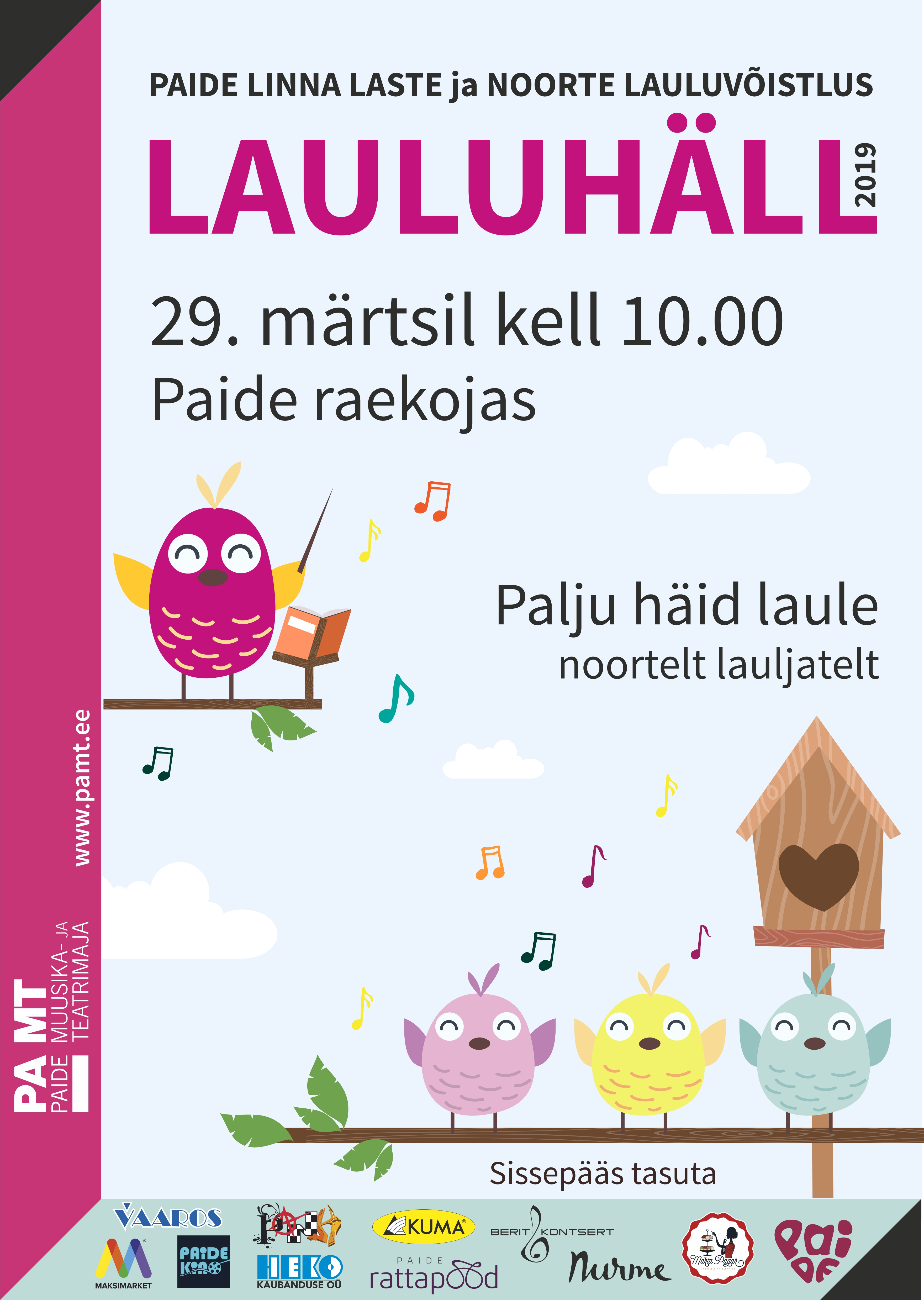 b955f39b60b Paide linna laste ja noorte lauluvõistlus LAULUHÄLL
