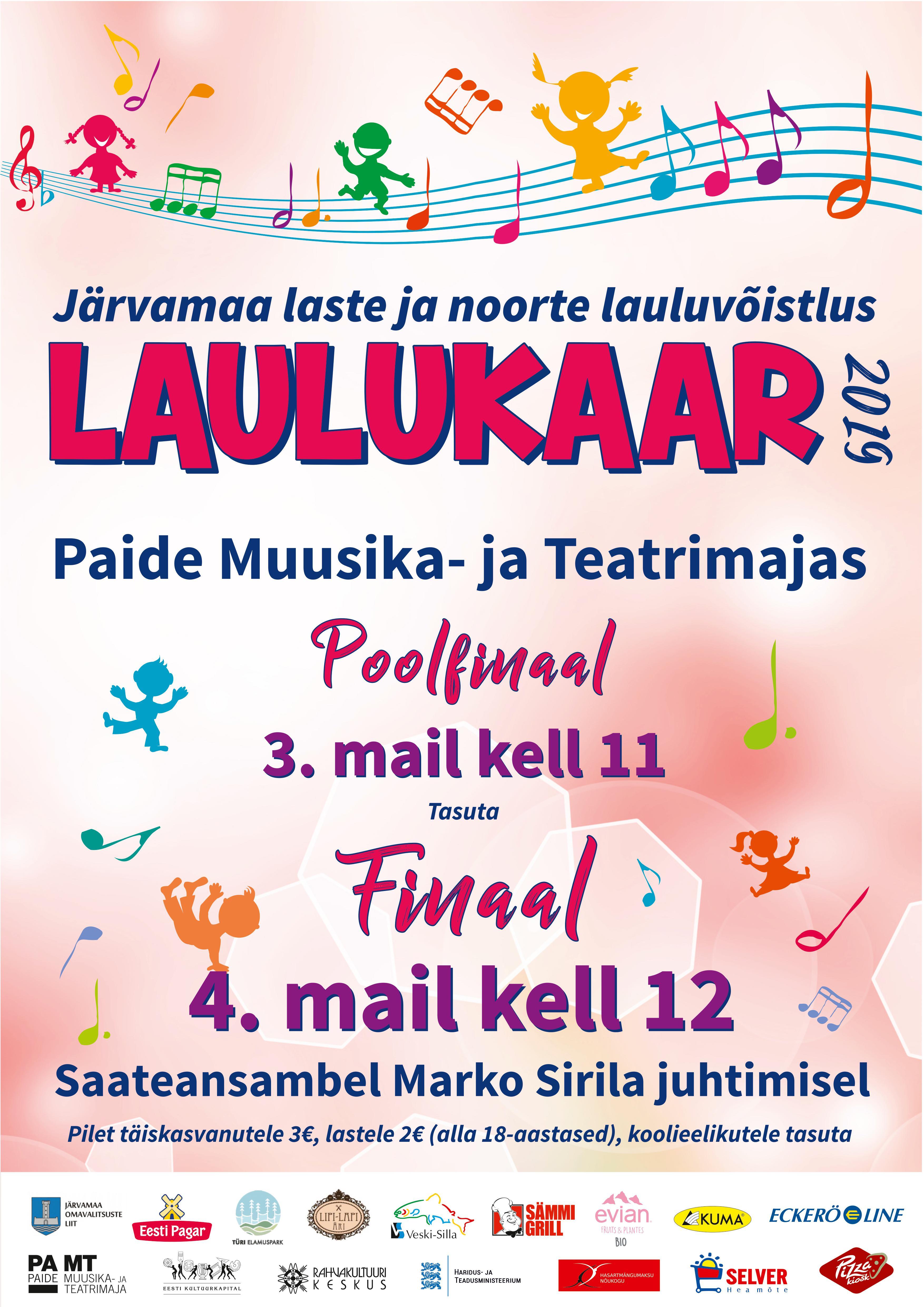 95d865a6bbb Järvamaa laste- ja noorte lauluvõistlus LAULUKAAR 2019